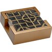 Thirstystone 5 Piece Shell Ebony Collegiate Coasters Gift Set