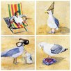 Thirstystone 4 Piece Silly Seagulls Coaster Set