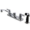 Kingston Brass Nuvofusion Double Handle Centerset Kitchen Faucet with Sprayer