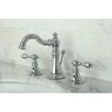 Kingston Brass American Classic Double Handle Widespread Bathroom Faucet with ABS Pop-Up Drain