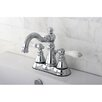 Kingston Brass American Patriot Double Handle Centerset Bathroom Faucet with ABS Pop-Up Drain