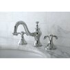 Kingston Brass French Country Double Handle Widespread Bathroom Faucet with Pop-Up Drain