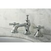 Kingston Brass Millennium Double Handle Widespread Bathroom Faucet with Pop-Up Drain