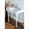 "Kingston Brass Duchess Vitreous 34"" Bathroom Sink with Console"