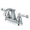 Kingston Brass Vintage Double Handle Centerset Bathroom Faucet with ABS Pop-Up Drain
