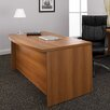 Global Total Office Correlation Double Pedestal Bow Front Executive Desk