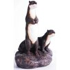 KelKay Otters On The Rock Statue