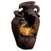 Jeco Inc. Old Fashion Pot Outdoor Fountain with LED Light