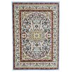 Ottomanson Paterson Traditional Medallion Design Grayish Blue Area Rug