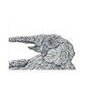 e by design El Elefante Animal Print Throw Blanket