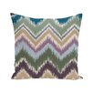 e by design Ikat-arina Chevron Stripes Print Outdoor Pillow