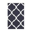 e by design French Quarter Geometric Print Polyester Fleece Throw Blanket