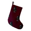 e by design Crazy Christmas Decorative Holiday Print Stocking