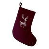 e by design Deer Crossing Decorative Holiday Animal Print Stocking