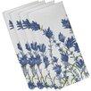 e by design Botanical Blooms Lavender Floral Napkin (Set of 4)
