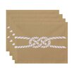 e by design Nautical Nights Carrick Bend Geometric Placemat (Set of 4)
