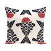 e by design Beach Vacation Big Fish Animal Throw Pillow