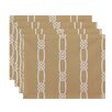 e by design Nautical Nights Tom Foolery Stripe Placemat (Set of 4)