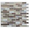 "Smart Tiles Mosaik 10.25"" x 9.13"" Mosaic Tile in Beige & Gray"