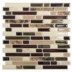 """Smart Tiles Mosaik 10"""" x 10"""" Peel & Stick Mosaic Tile in Brown"""