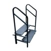AmTab Manufacturing Corporation Stages and Risers 2-Step Steel Furnished Step Stool with 300 lb. Load Capacity