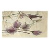 Thumbprintz Rosette Bird Tan/Purple Area Rug