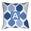Thumbprintz Batik Monogram Printed Throw Pillow