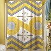 Thumbprintz Citron and Slate II Shower Curtain
