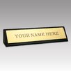 Dacasso 1000 Series Classic Leather Name Plate in Black