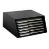 Dacasso 1000 Series Classic Leather Letter-Size Six-Tray File Sorter in Black