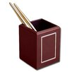 Dacasso 5000 Series 24kt Gold Tooled Leather Pencil Cup with Gold Accents in Burgundy