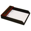 Dacasso 8000 Series Rosewood and Leather Front-Load Letter Tray