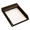 Dacasso 8000 Series Walnut and Leather Front-Load Letter Tray