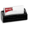 Dacasso 2000 Series Crocodile Embossed Leather Business Card Holder in Black