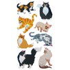 Jillson & Roberts Bulk Roll Prismatic Cat and Kitten Sticker