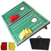 GoSports Football Edition CornHole Bean Bag Toss Game Set