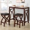 Woodhaven Hill Delling 3 Piece Counter Height Dining Set