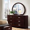 Woodhaven Hill Lyric 6 Drawer Dresser with Mirror