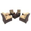 Creative Living South Seas 7 Piece Seating Group with Cushions