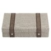 Reed & Barton Natural Instinct Taupe Woven Flatware Chest