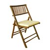 ZEW Inc Bamboo Folding Chair