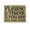 "Blossom Bucket ""Please/Thank You"" by Barbara Lloyd Textual Art Plaque (Set of 2)"