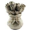 Blossom Bucket Cement Flower Sculpture (Set of 2)