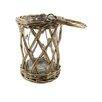 Blossom Bucket Sicker Basket with Glass Hurricane (Set of 4)