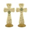 Blossom Bucket 2 Piece Decorative Baptism Cross on Base Set (Set of 2)