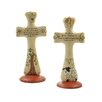 Blossom Bucket 2 Piece Inspirational Crosses with Sheep and Tree Sculpture Set (Set of 2)