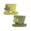 Blossom Bucket 2 Piece St. Patricks Day Hat with Clover Pin Sculpture Set (Set of 6)