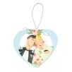 Blossom Bucket Bride and Groom in Heart Ornament (Set of 4)
