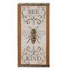 Blossom Bucket 'Bee Kind' Sign Wall Decor (Set of 2)