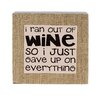 Blossom Bucket 'Ran Out of Wine' Box Sign Wall Decor (Set of 2)